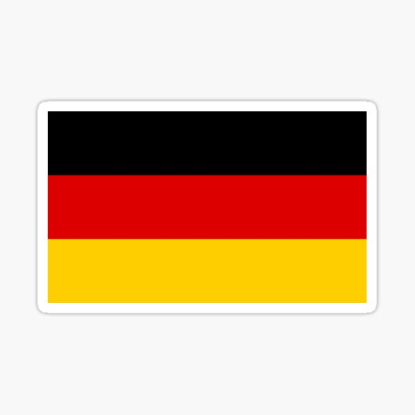 Flag of Germany / Deutschland / Deutsch / German National Country Flag Sticker