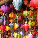Lanterns On Display at Hoi An Markets by katy fotography
