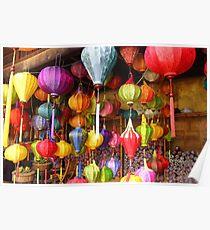 Lanterns On Display at Hoi An Markets Poster