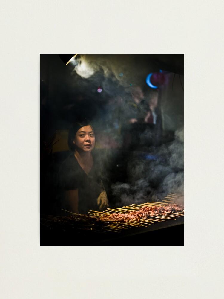 Alternate view of Satay Vendor - White Night Photographic Print