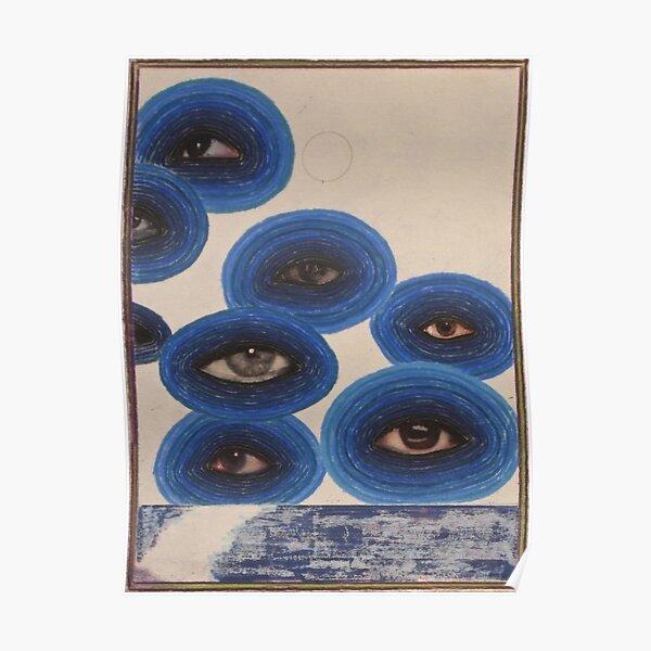 diseño jadeante vintage indie eye Póster