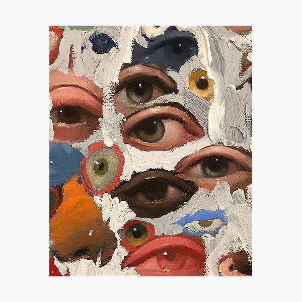 aesthetic vintage eye painting design Photographic Print