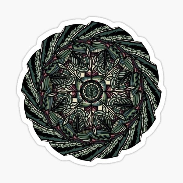 House Plants Mandala Sticker