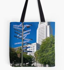 Sister Cities Of Los Angeles - Athens Auckland Berlin Bordeaux Eliat Giza Ischia Jakarta Mexico City Tote Bag