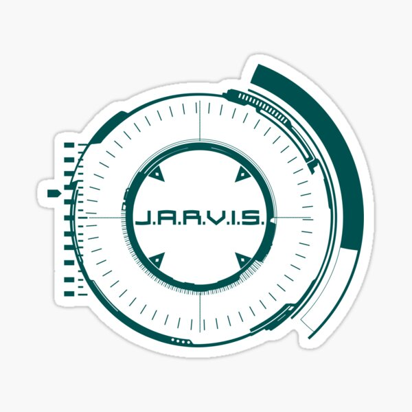 Jarvis Artificial Intelligent A.I. Core  Green Sticker