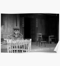 Man weaving baskets, Sapa, Vietnam Poster