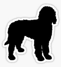 Labradoodle Silhouette Sticker