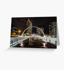 Webb Bridge, Melbourne Greeting Card