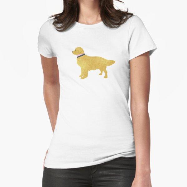 Adretter goldener Apportierhund Tailliertes T-Shirt