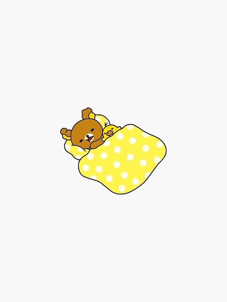 rilakkuma and kiiroitori sleepin by hellotaetty