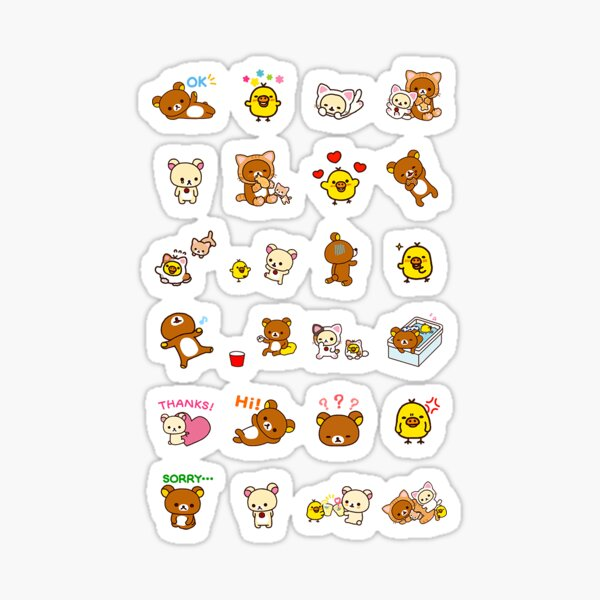 san-x sticker set Sticker