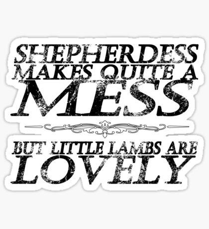 Little Lambs (No Graphic) Sticker
