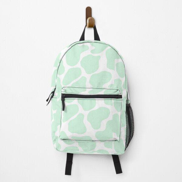 Mint Green Cow Print Backpack