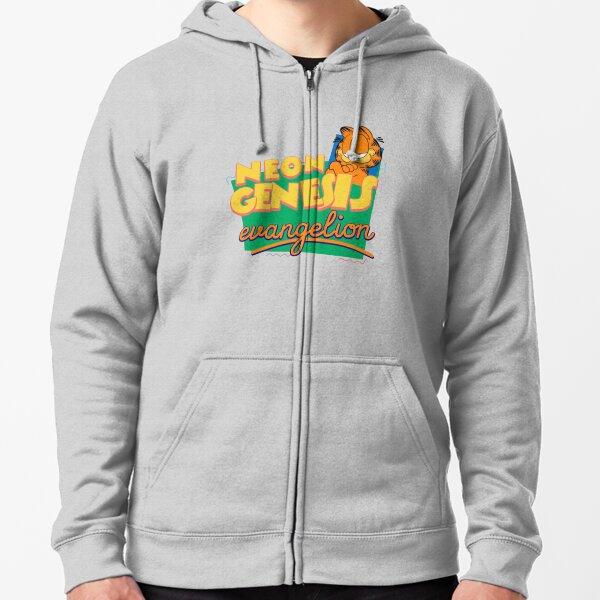 Neon Genesis Evangelion Garfield Zipped Hoodie