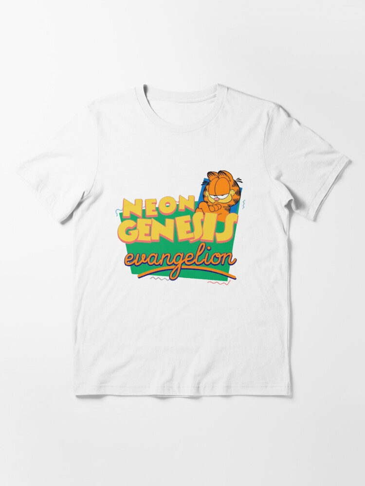 Neon Genesis Evangelion Garfield T Shirt By Notreally Redbubble