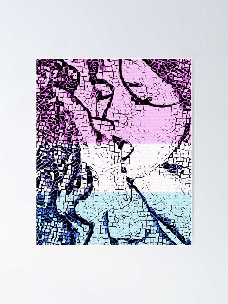 Alternate view of Mosaic Kiss Poster