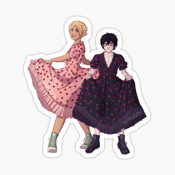 Solangelo strawberry dress Sticker
