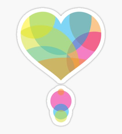 Colors of a Heart Sticker
