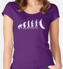 The Evolution of the Banana  Women's Fitted Scoop T-Shirt