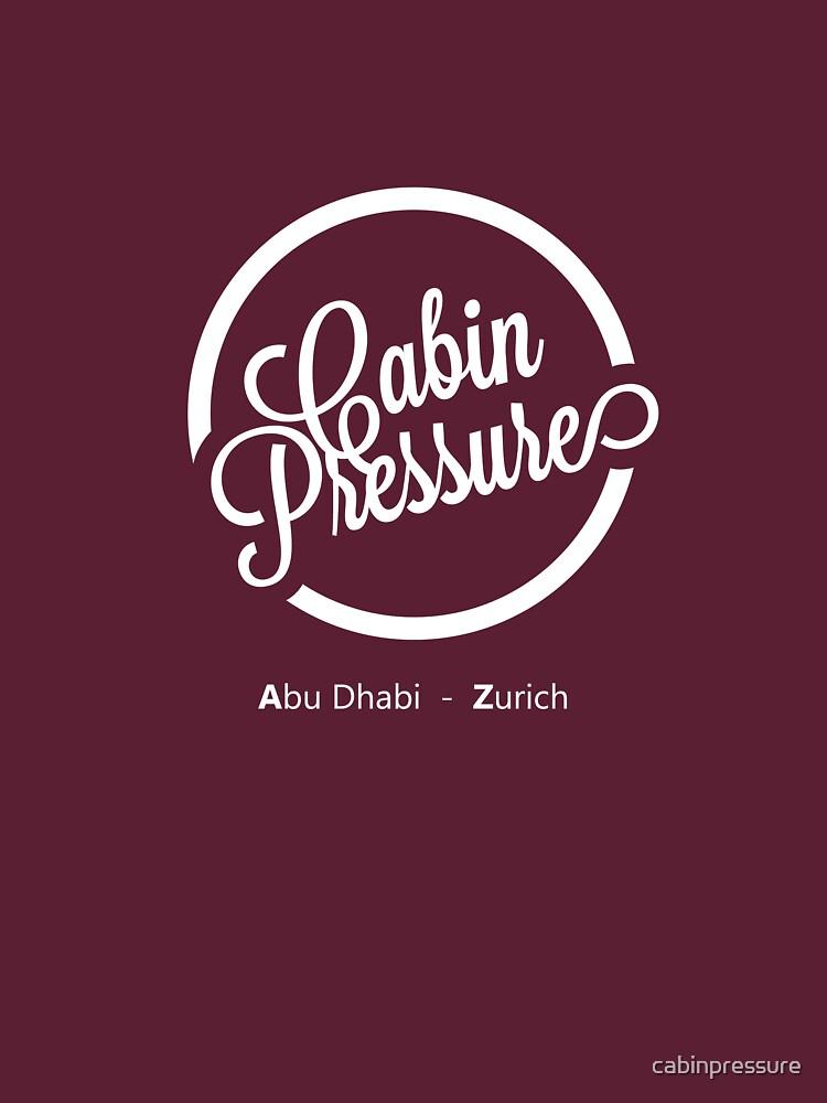 Cabin Pressure Abu Dhabi - Zurich | Unisex T-Shirt