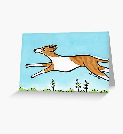 Leaping Greyhound Greeting Card