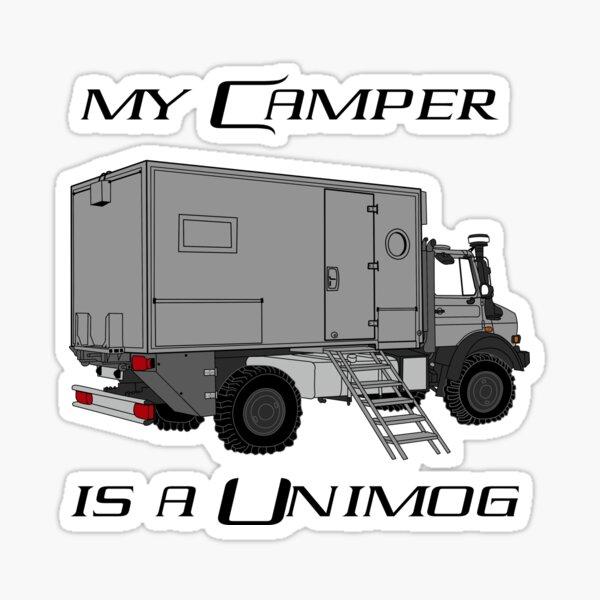 My camper is a unimog Sticker