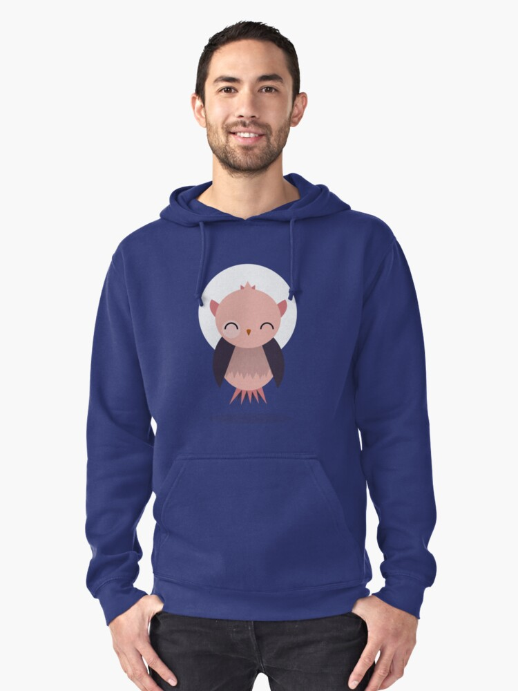 Cute Owl Pullover Hoodie Front