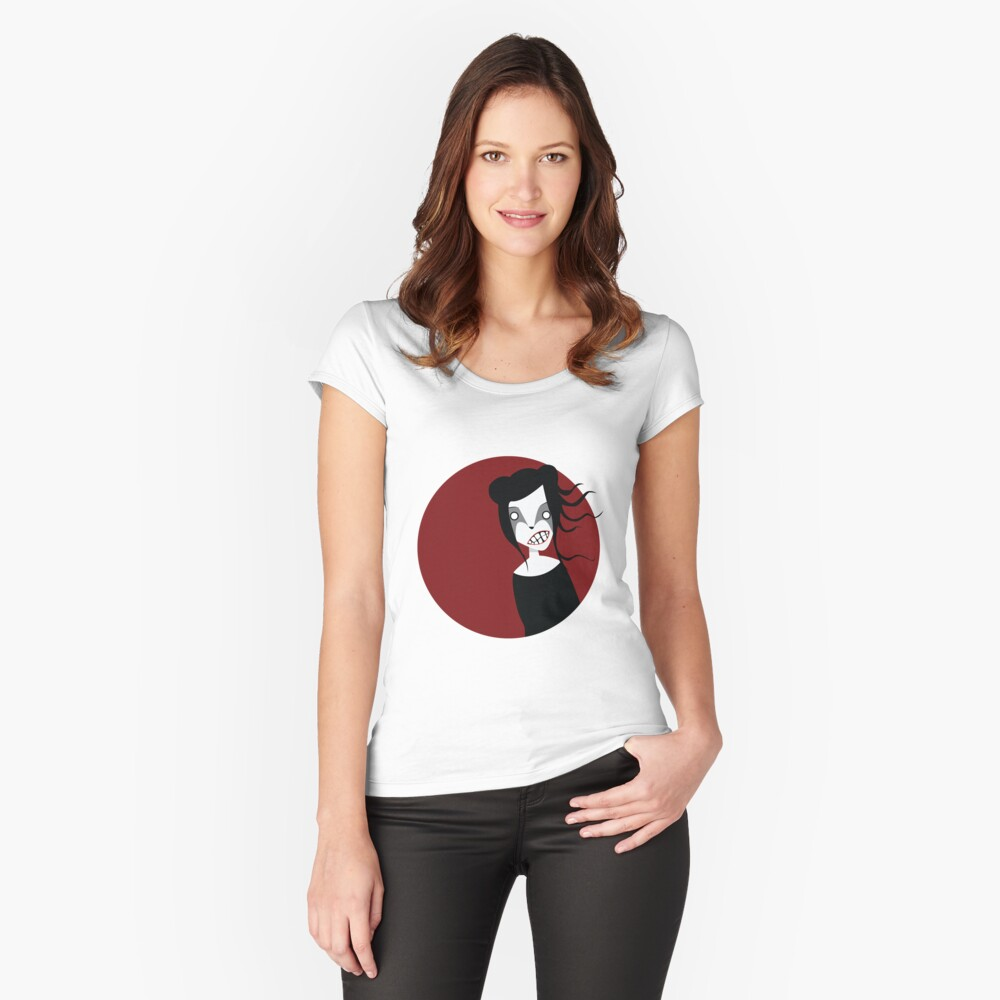 Red Moon Women's Fitted Scoop T-Shirt Front