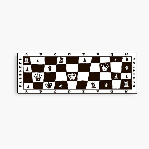 Black & White Chess Design. Best gift idea for chess lovers Canvas Print