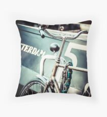 Amsterdam bicycle Throw Pillow