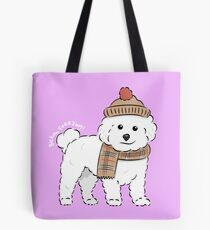 Bichon Freezing! Tote Bag