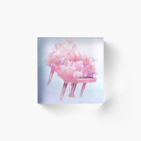 Glass Piano Acrylic Block