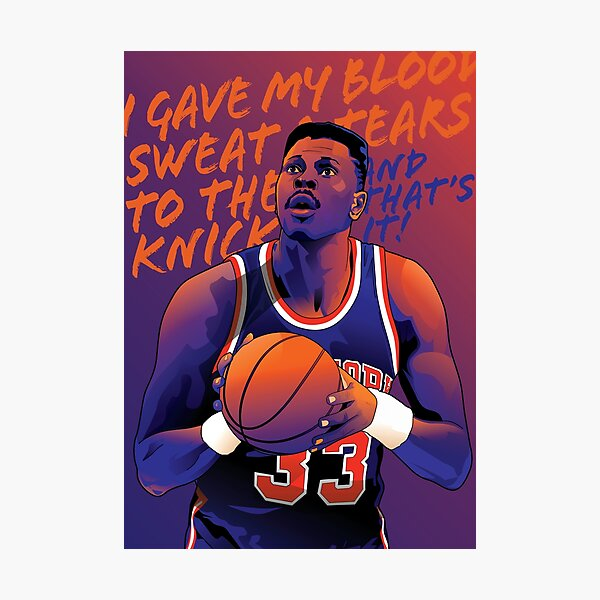 Patrick Ewing - Blood Sweat and Tears Photographic Print