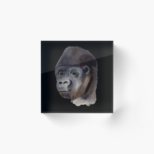 Kind Gorilla Acrylic Block
