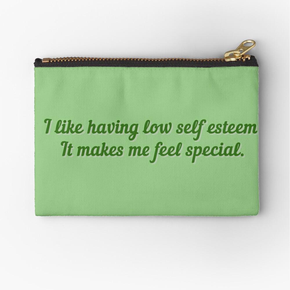 I Like Having Low Self Esteem - Daria Design Zipper Pouch