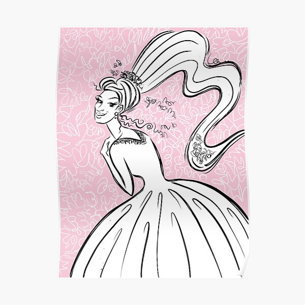 Girl in a White Wedding Dress Poster