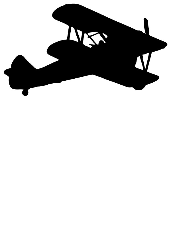 Biplane Silhouette Stickers By Lucid Reality