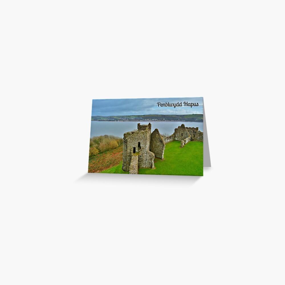 Cerdyn Penblwydd Castell Llansteffan Greeting Card