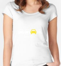 Cabin Pressure - Always Playing Yellow Car Women's Fitted Scoop T-Shirt