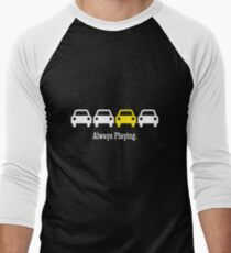 Cabin Pressure - Always Playing Yellow Car Men's Baseball ¾ T-Shirt