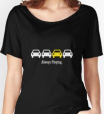 Cabin Pressure - Always Playing Yellow Car Women's Relaxed Fit T-Shirt