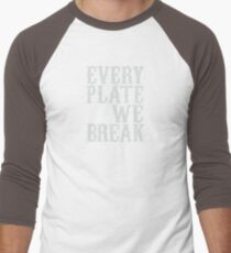 everyplatewebreak - logo Men's Baseball ¾ T-Shirt