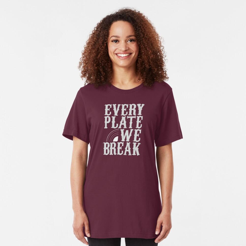 everyplatewebreak - logo Slim Fit T-Shirt
