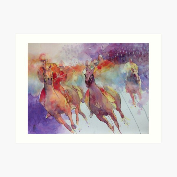 Lonelyness of the rider Art Print