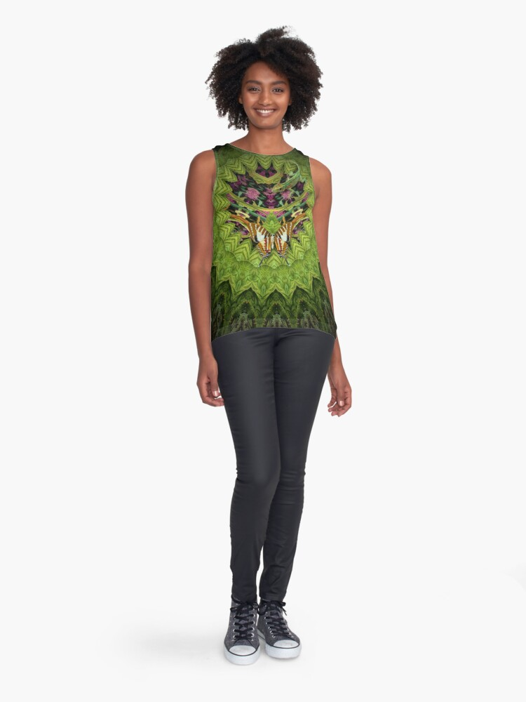 "Alternate view of ""Magic Garden"" Sleeveless Top"