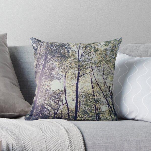 Summer Forest Throw Pillow