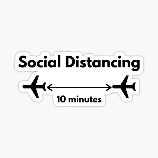 My Kind of Social Distancing - Airplanes Flying Sticker