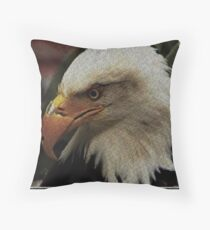 ASCii EQUAL EAGLE by ROOTCAT Throw Pillow