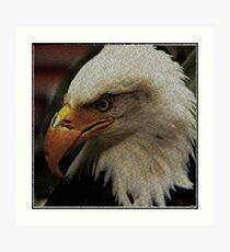ASCii EQUAL EAGLE by ROOTCAT Art Print