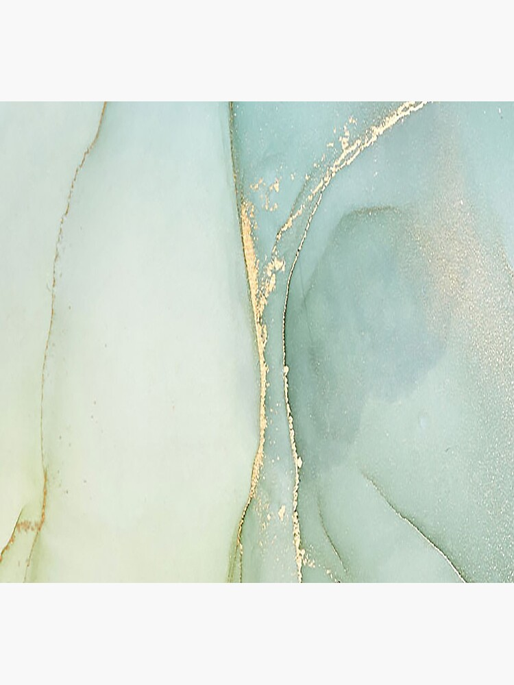 Soft Green Marble With Gold by huschelinchen